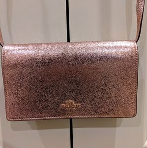 BNWT Coach Wallet with Strap Rose Gold